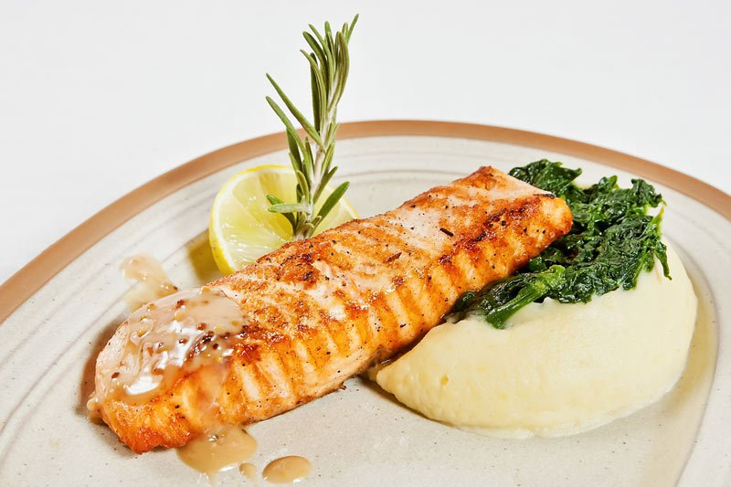 Salmon with Puree for Multiple Sclerosis Patients