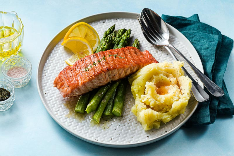 Salmon Steak with Puree for Anxiety