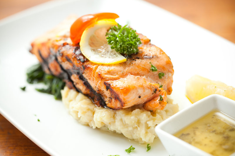 Salmon Steak with Puree for Kidney Failure