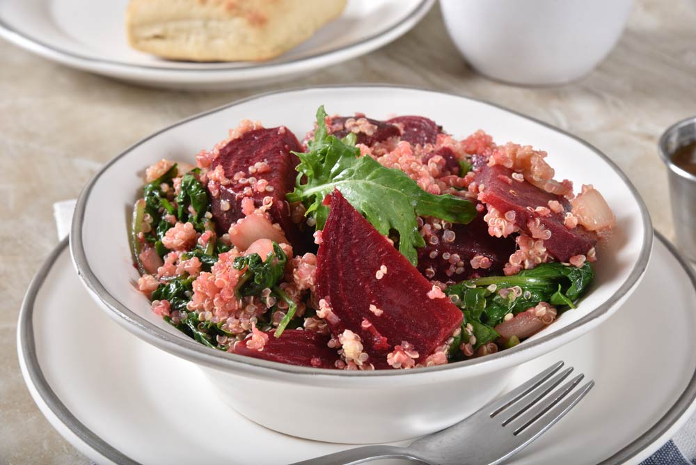 Quinoa and Beetroot Tabbouleh for Women with Uterine Fibroids