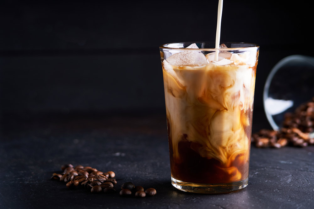 Cold Latte Coffee for Herpes Patients